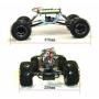Радиоуправляемый джип-краулер HSP Pangolin Electric Off-Road Crawler 4WD 1:10 - 94180T3 - 2.4G (43 см)